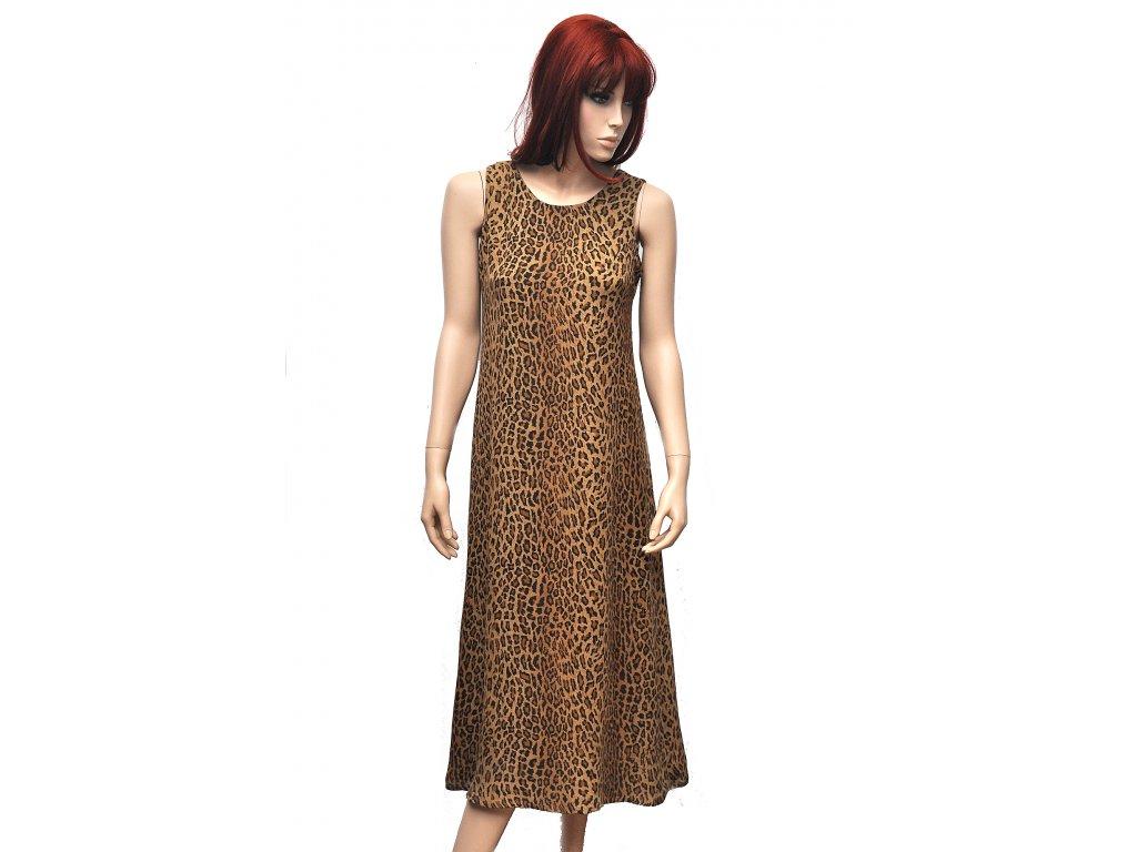 Hedvábné šaty leopardí vzor Ralph Lauren 1