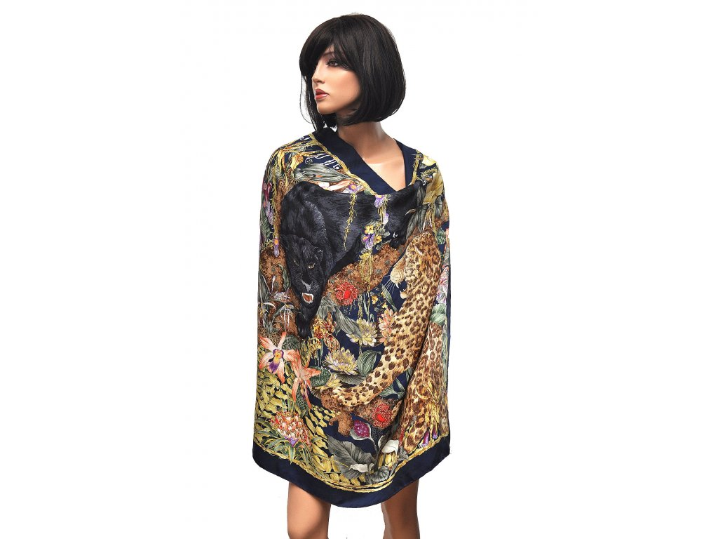 Fantastický vintage hedvábný šátek Gucci 1