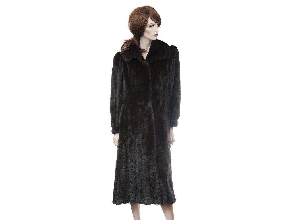 blackglama luxusni tmave hnedy norkovy kozich 1