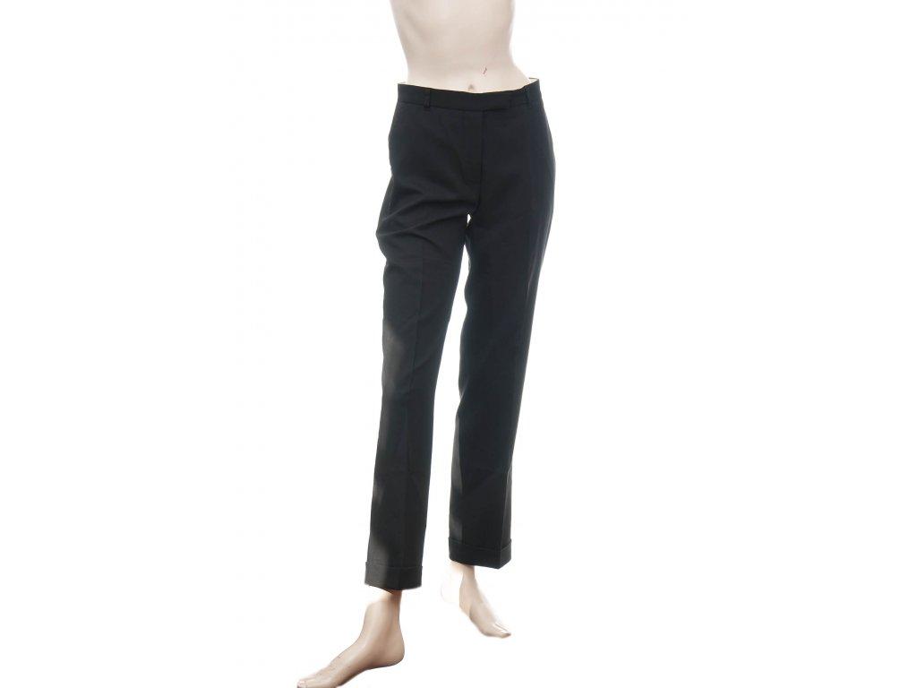 moschino luxusni cerne kalhoty s puky a manzetami 1