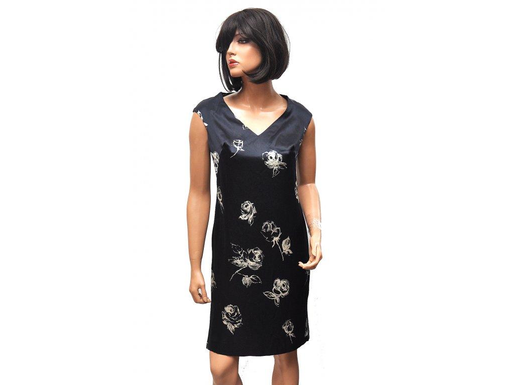 Elegantní hedvábné šaty s květy Escada 36 1
