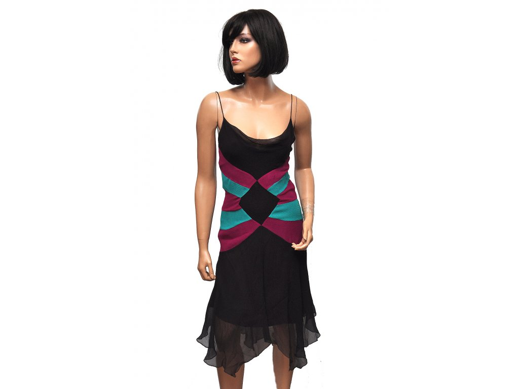 Sexy hedvábné šaty Diane Von Furstenberg 36 1