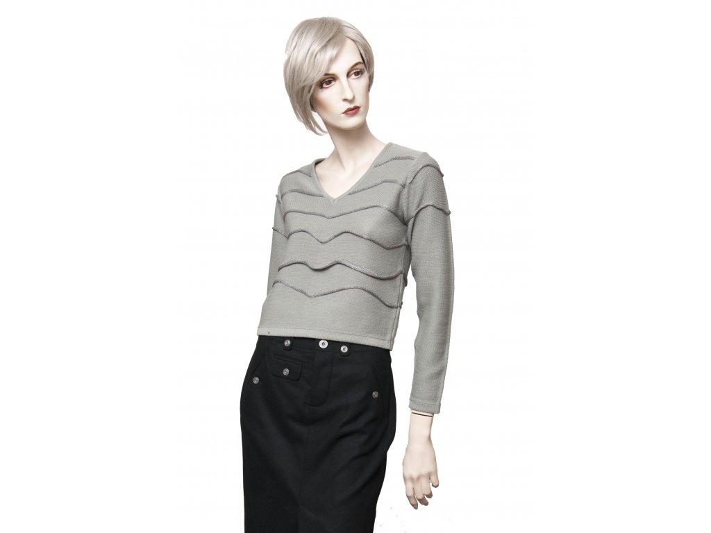 versace jeans coture sedostribrny svetr 2