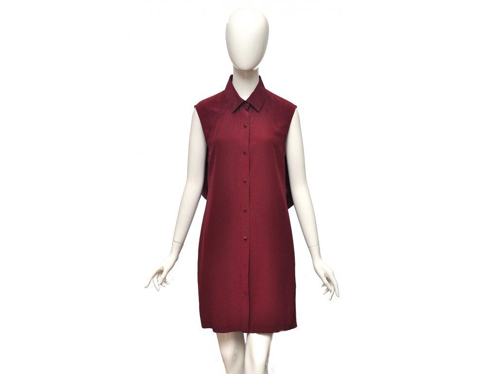 Netradiční tmavě červené hedvábné šaty Alexander Wang 38 1