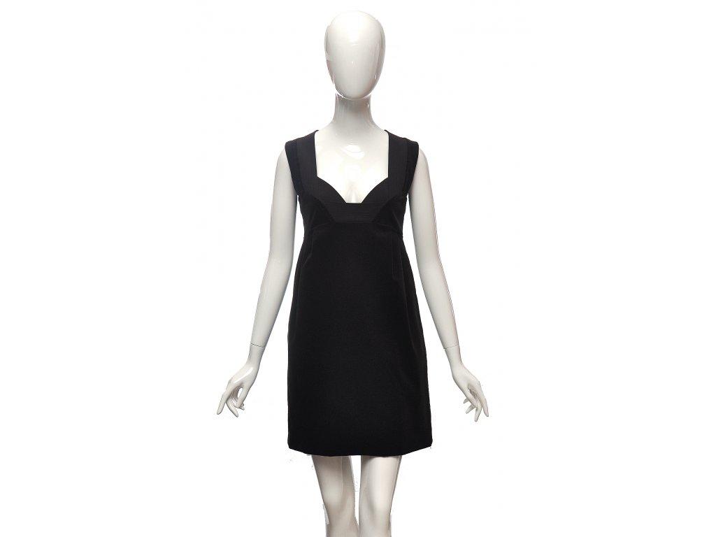 Tmavě hnědé sametové šaty gladiátorského stylu Gucci 36 1