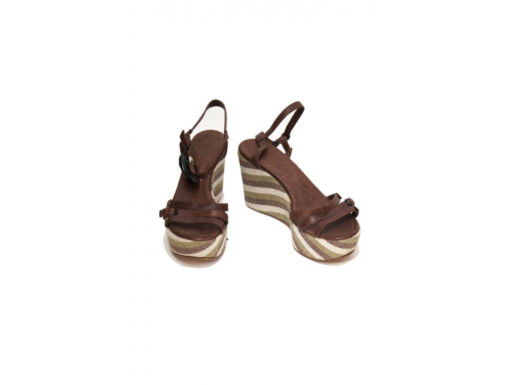 sergio rossi krasne boty na klinku 1