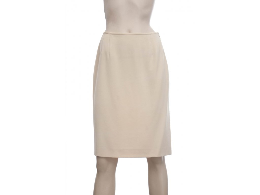 valentino vintage klasicka sukne kremove barvy 1
