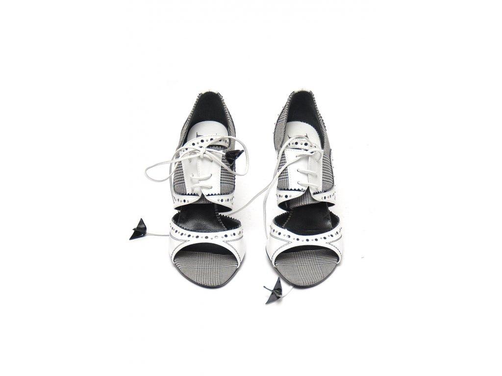 Fantastické černobílé boty Christian Dior Pc 17t. 36,5 1