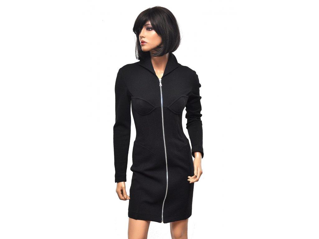 Sexy vlněné šaty na zip Thierry Mugler 36 1