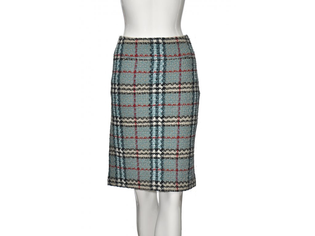 burberry kostrovana tvidova sukne 1