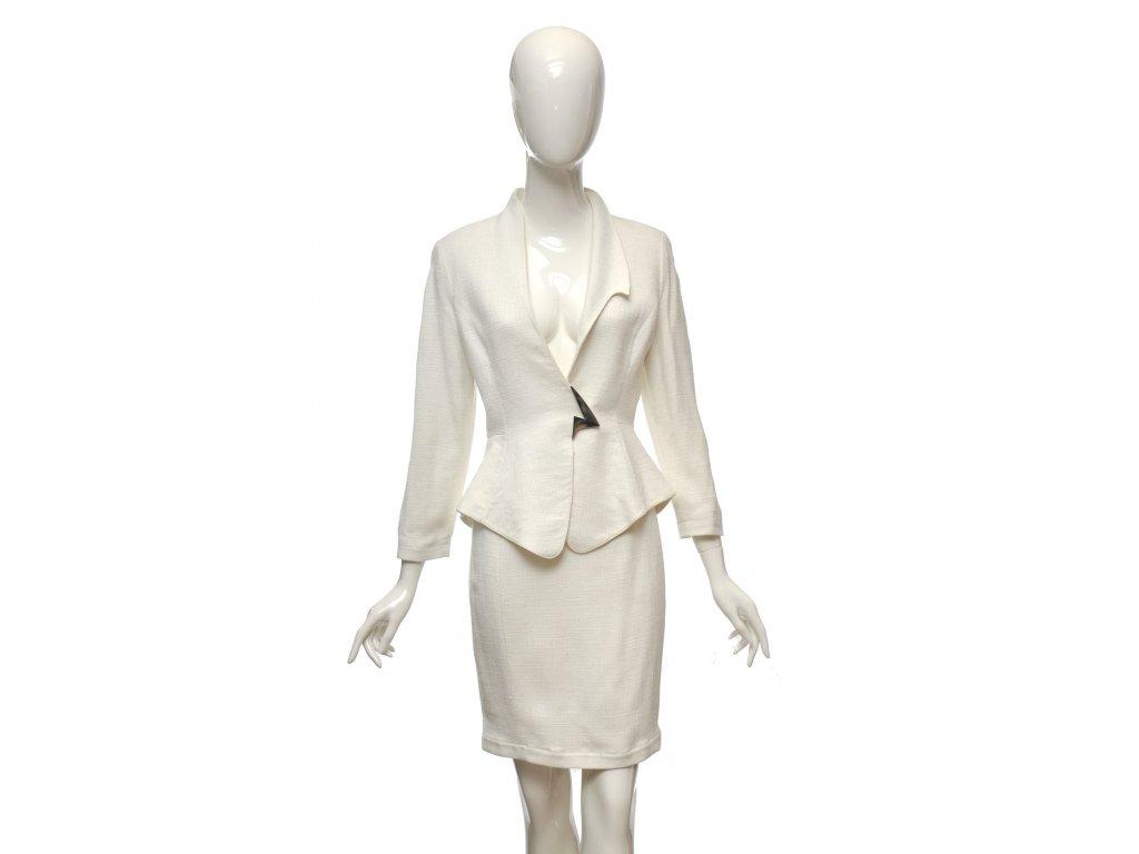 thierry mugler bily luxusni kostym s preskou 1