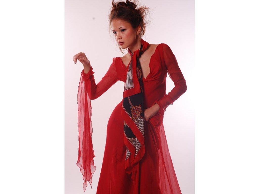 Překrásná hedvábná róba Valentino 34