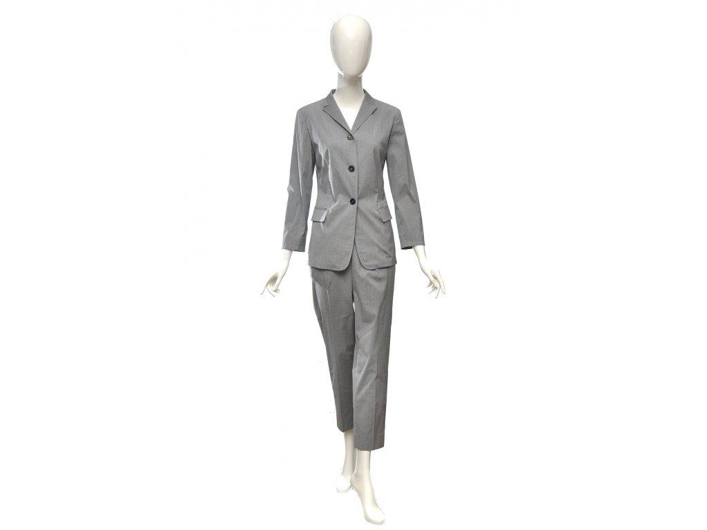 jil sander sedy kalhotovy kostym 36 1