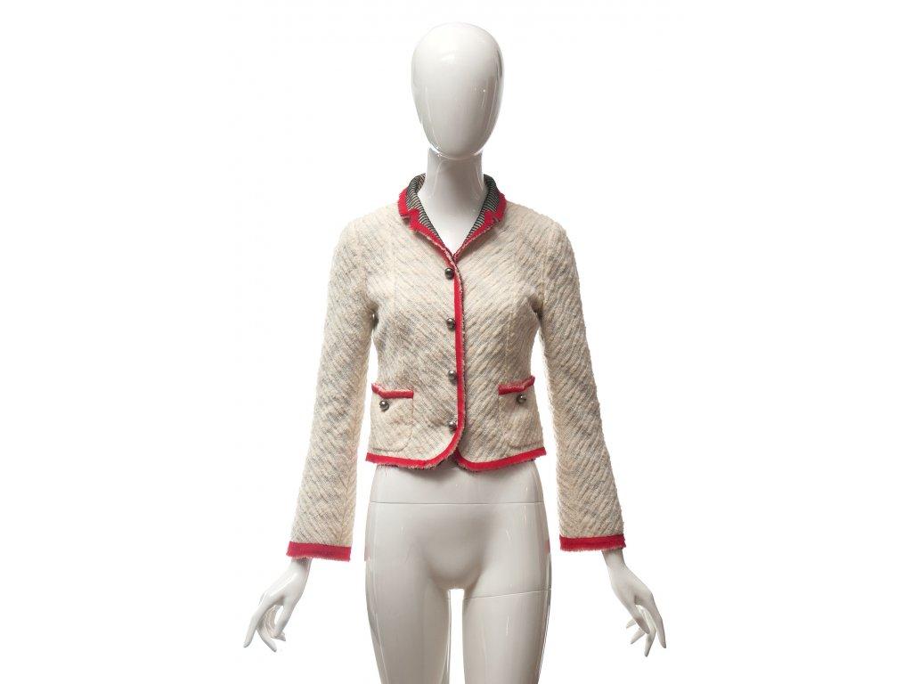 marc jacobs originalni kremove sako s cervenym lemem 1