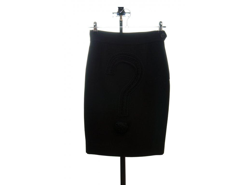 moschino couture klasicka sukne s vykricnikem 1