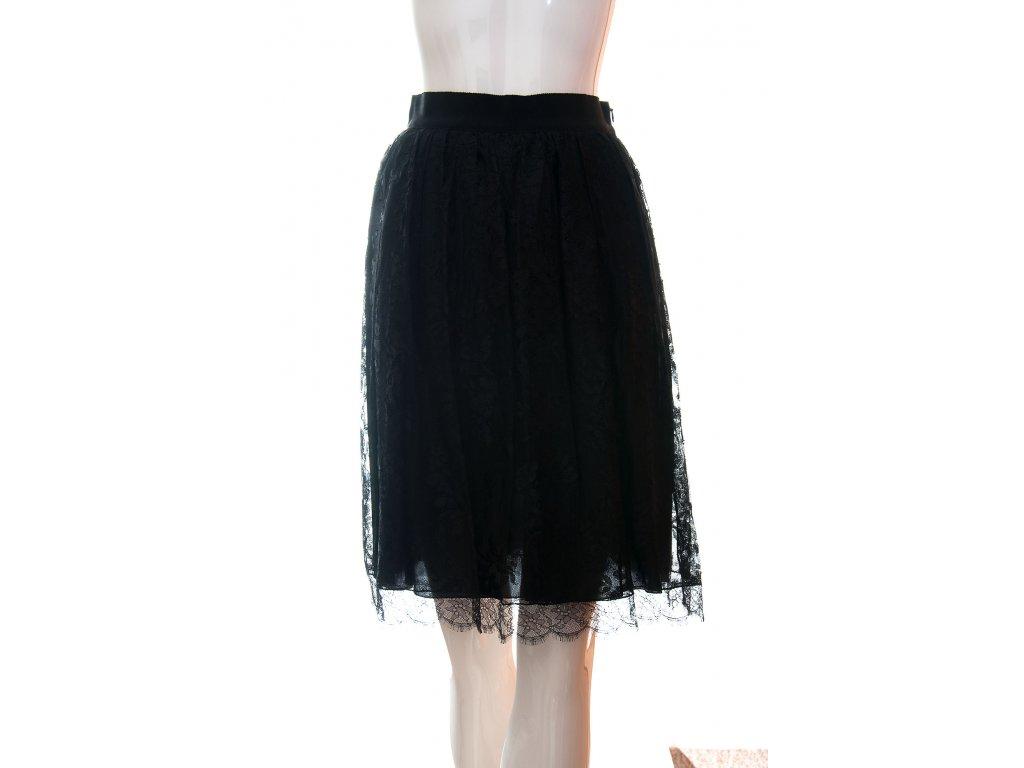 moschino krajkovana cerna sukne 1