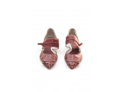 etro krasne cervene kozene boty 1