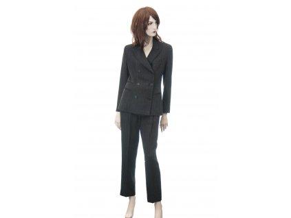 donna karan kalhotovy kostym s hedvabim 2