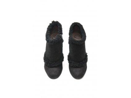 lanvin nadherne semisove kozesinove boty na klinku 1