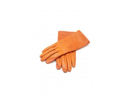 hermes kozene oranzove rucne site rukavice 1