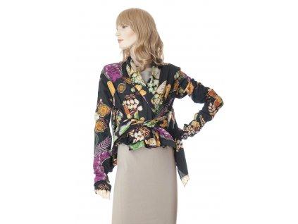 etro krasna bavlnena halena s kvetinovym vzorem 4