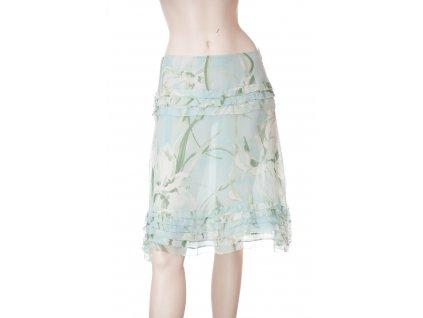blumarine hedvabna sukne s kvety 1