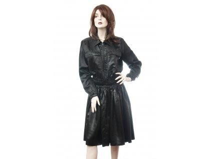 prada exkluzivni kostym bunda sukne vzhled lakovane kuze 1