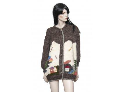 rucne pleteny trendy vlneny svetr 1