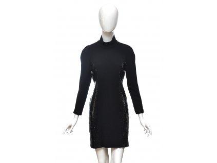 Černé šaty s flitry Pierre Balmain 38 1