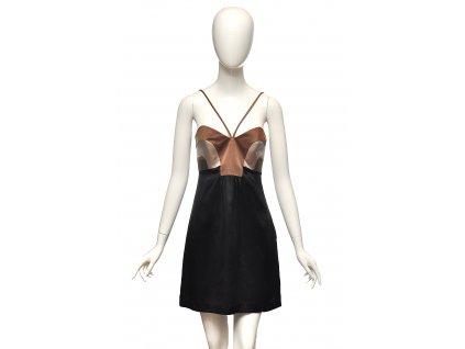 Něžné hedvábné šaty černohnědé Missoni 34 1