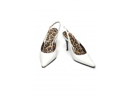 Bílé střevíce s leopardí podšívkou Dolce Gabbana 37 1
