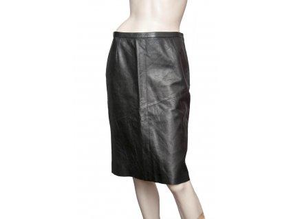 gucci luxusni cerna kozena sukne 1