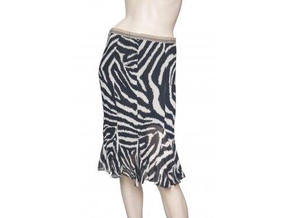 etro hedvabna sukne se zvirecim vzorem 1