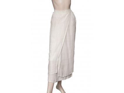 max mara lezerni sukně len hedvabi 1