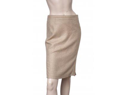 etro bezova luxusni vlnena sukne 1