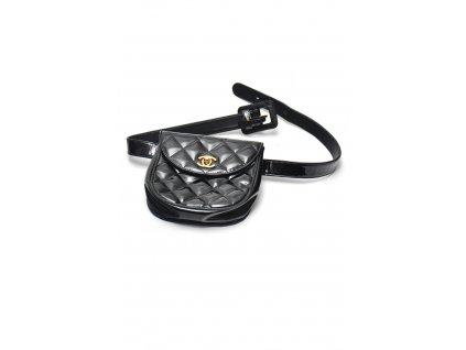 Luxusní kožená lakovaná ledvinka kabelka Chanel 1