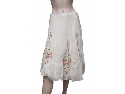 hedvabna bila sukne s aplikaci 1