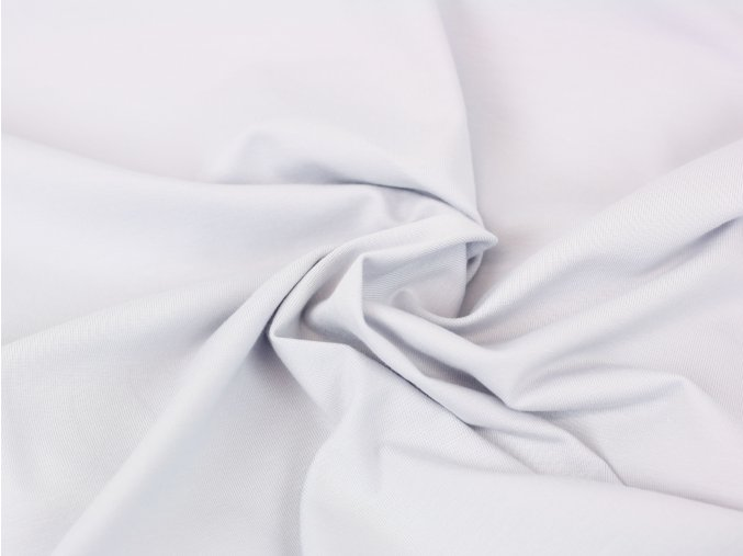 Bavlněný úplet - světle šedá