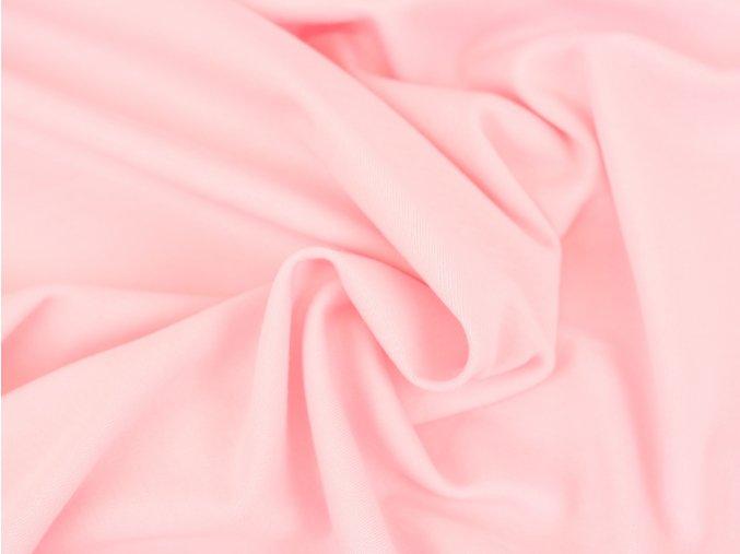 Bavlněný úplet - světle růžový 884