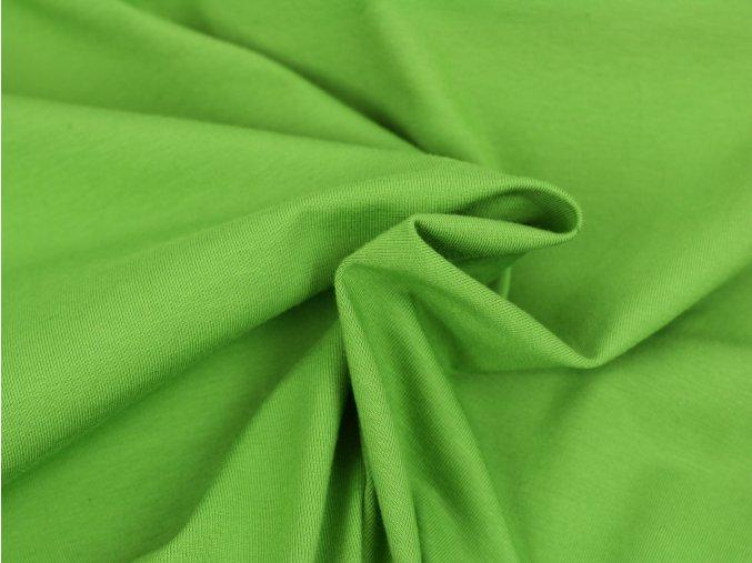 Bavlněný úplet - hráškově zelený 314