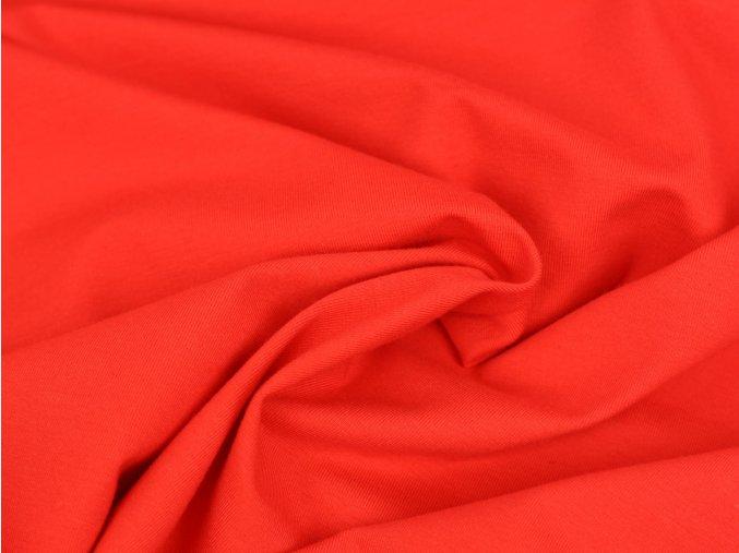 Bavlněný úplet - červený 440