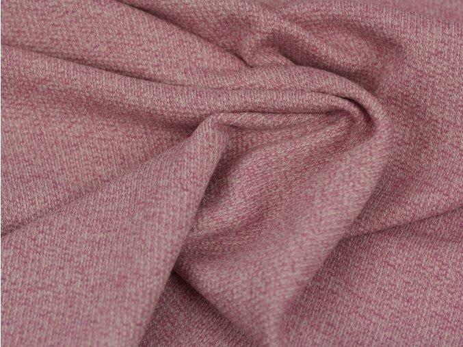 Bavlněný žakár - melír růžová