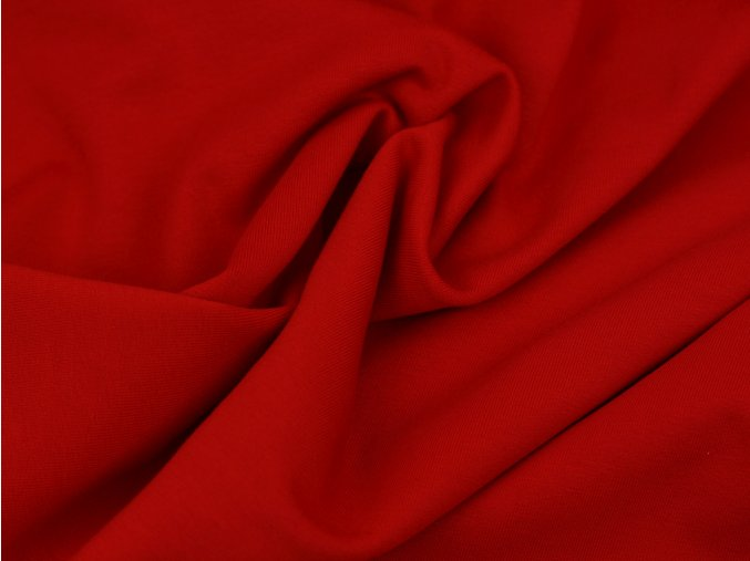 Teplákovina počesaná - červená 015