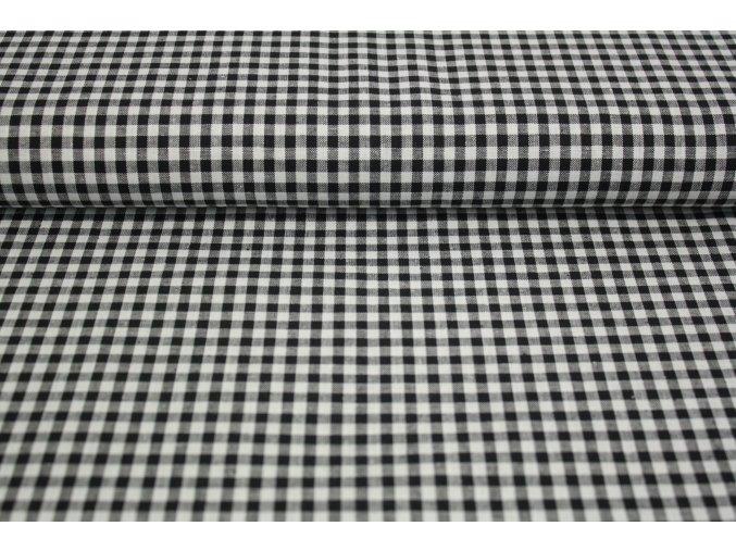 Bavlněné plátno - černá kostička 5mm