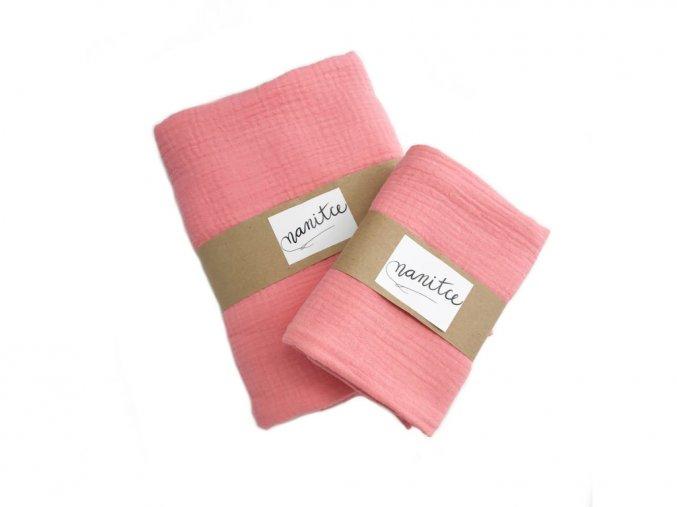 Mušelínový šátek lososový malý