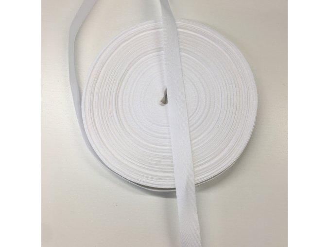 keprovka - tkaloun 14mm bílý