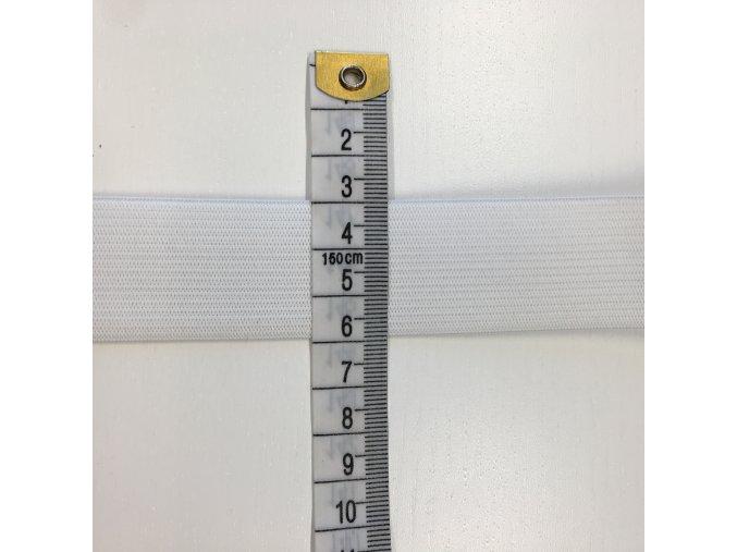 Prádlová pruženka plochá šíře 3cm - bílá