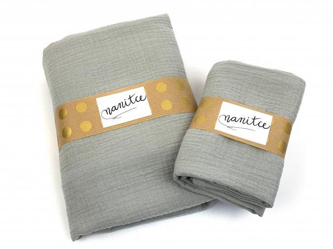 Mušelínový šátek světle šedý