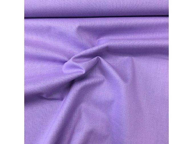 Bavlněné plátno jednobarevné - fialová