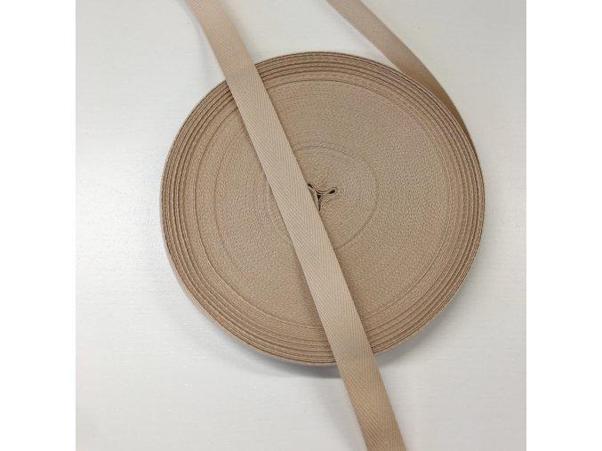 keprovka - tkaloun bavlněný 15mm béžový